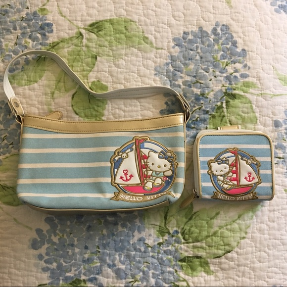 Hello Kitty Nautical Canvas Purse and Wallet Set d7b50a548c45d